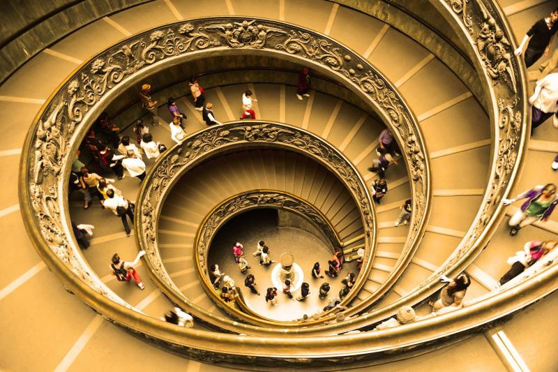 Vatican spiral staircase as seen on Rome tour