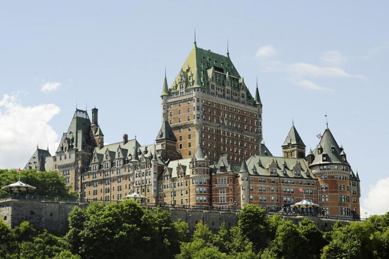 Chateau Frontenac as seen on a Quebec city tour from Montreal