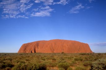 Uluru seen on Alice Springs tour in Australia