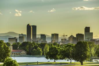 Denver skyline as seen on our city tours