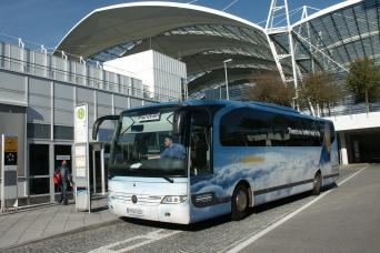 Airport bus from Munich airport to hotels