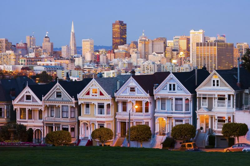 View of the Painted Ladies as seen on our San Francisco City Tour