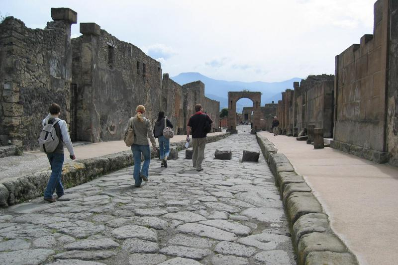 Pompeii ruins as seen on day tour from Rome