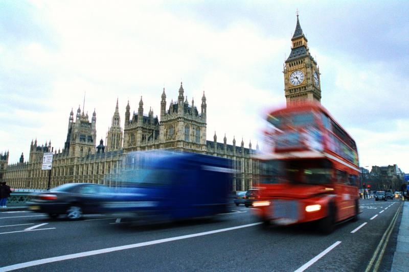 London city tour bus and Big Ben